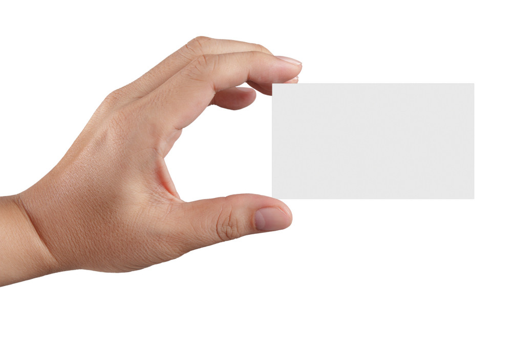 Hand Holding Blank Paper Business Card Royalty-Free Stock Image ...
