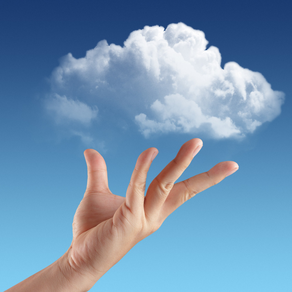 Hand Holding Cloud In Sky 3