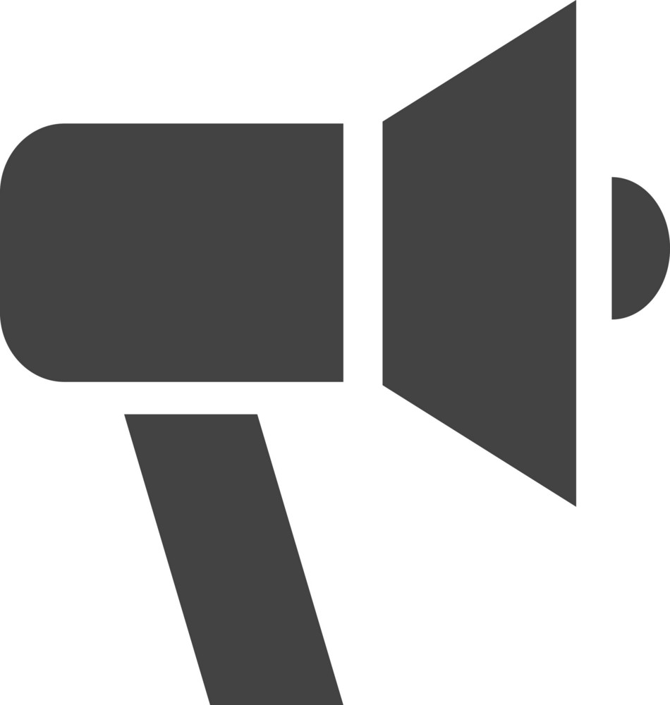 Hand Speaker Glyph Icon