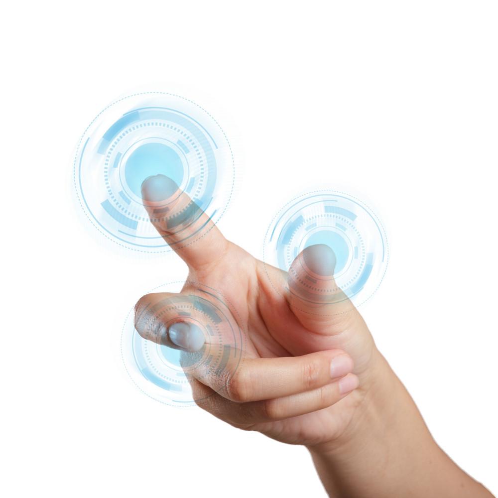 Hand Touching Screen Interface