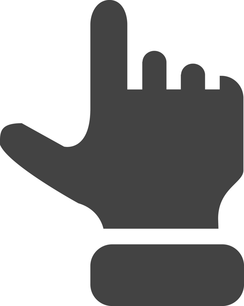 Hand Up Glyph Icon