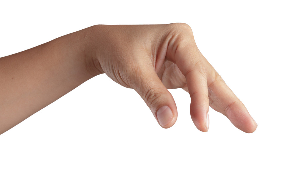 Hand With Thumb And Forefinger Together