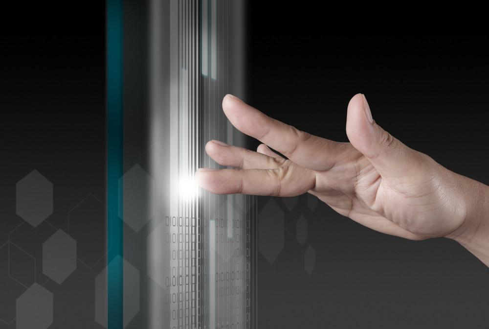 Hand Working On Modern Technology