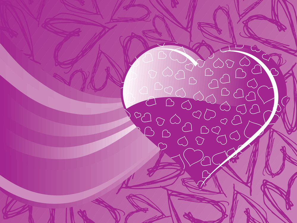 Handdrawn Heart Background