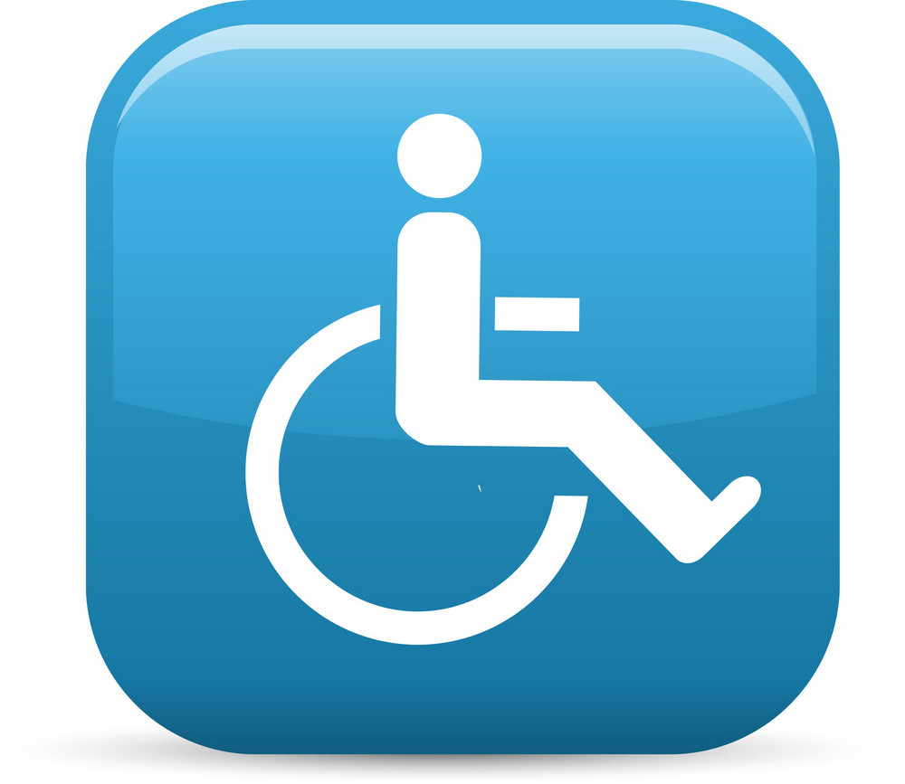 Handicap Elements Glossy Icon