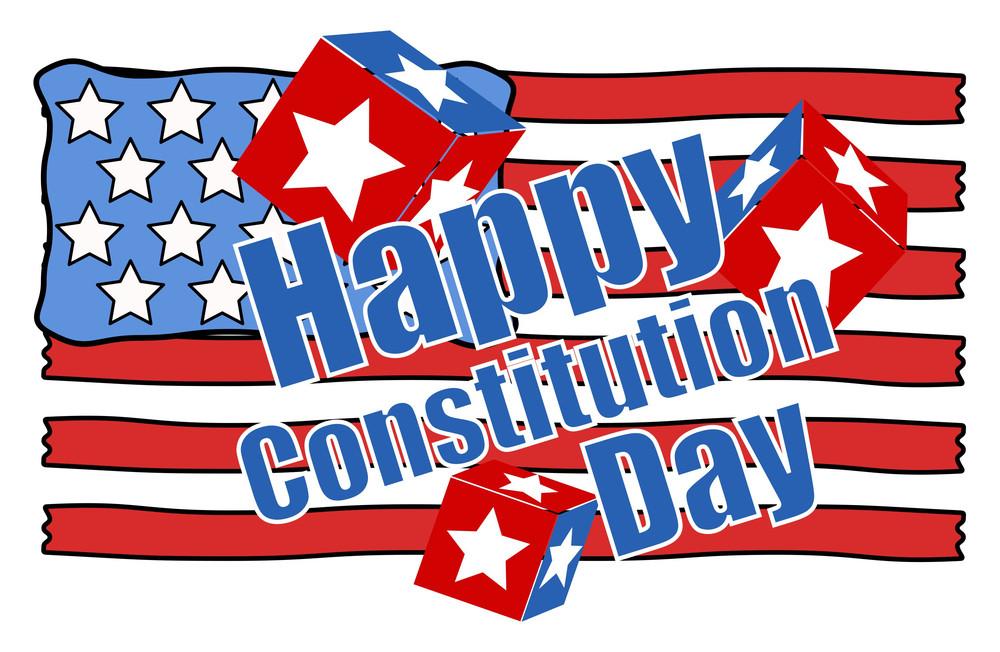 Handmade Constitution Day Vector Illustration
