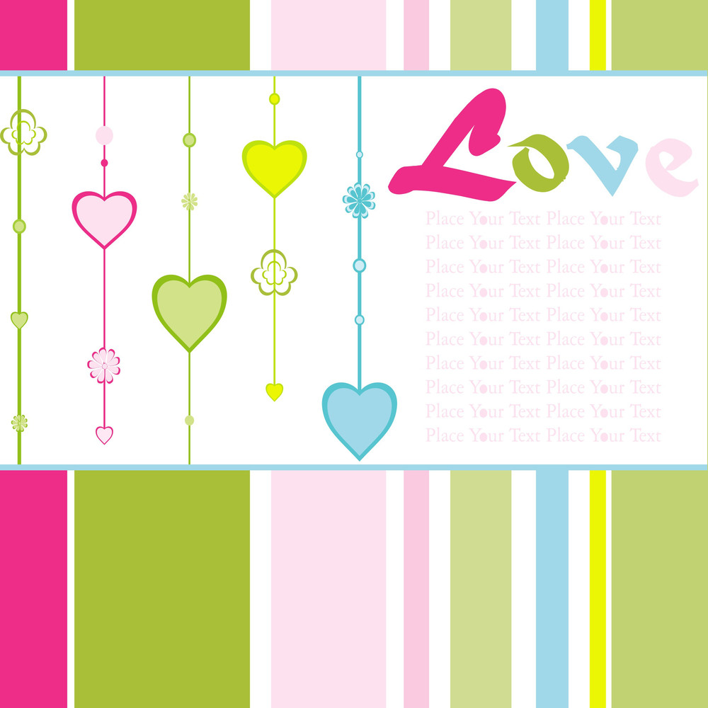 Hanging Colorful Love Background