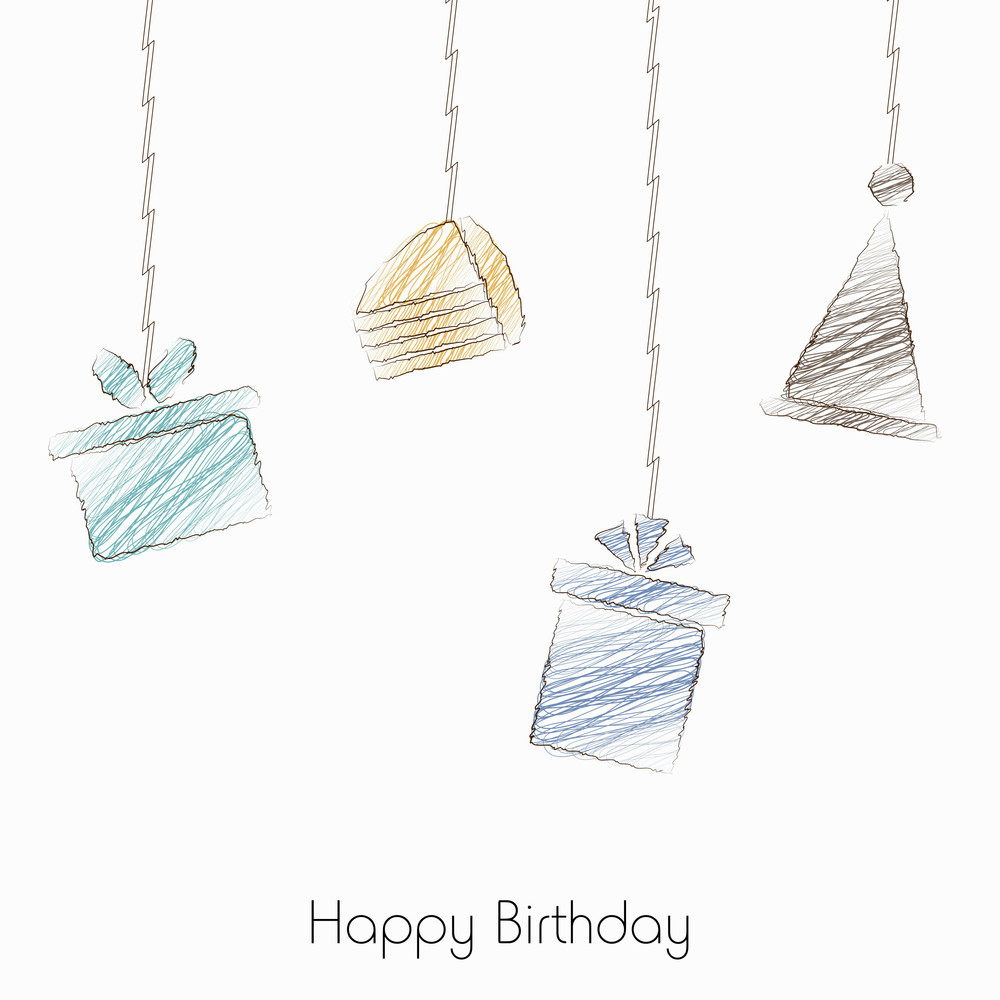 Hanging Giftboxes On White Background
