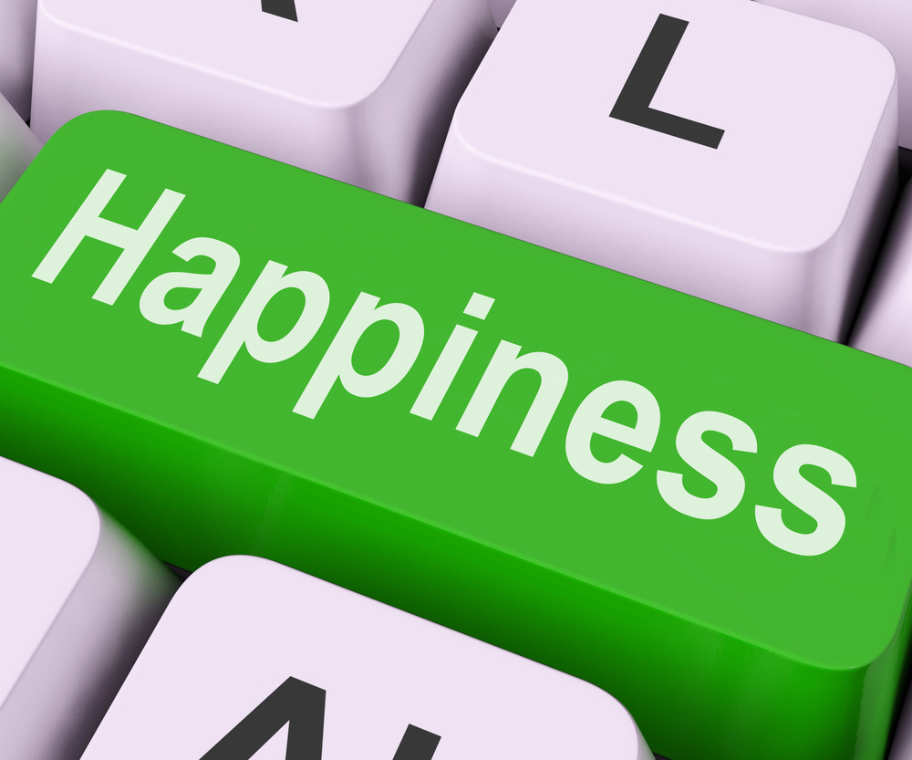 Happiness Key Means Delight Or Joy