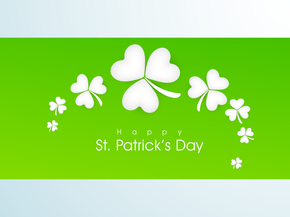 Happt St. Patricks Day Celebrations Background.
