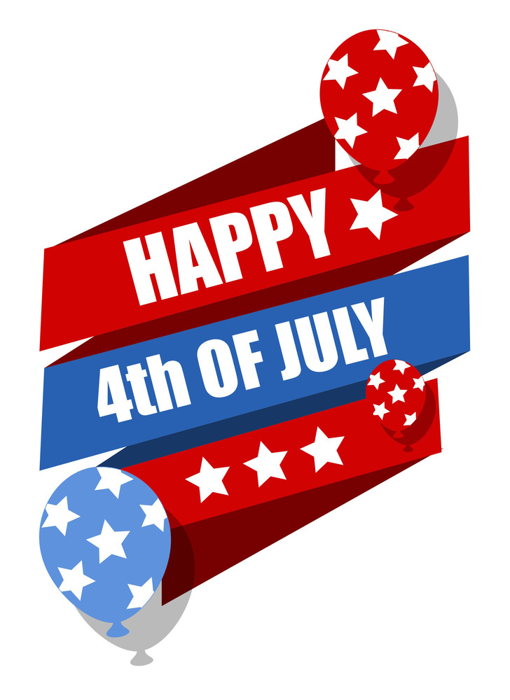 Happy 4th Of July Celebration Banner