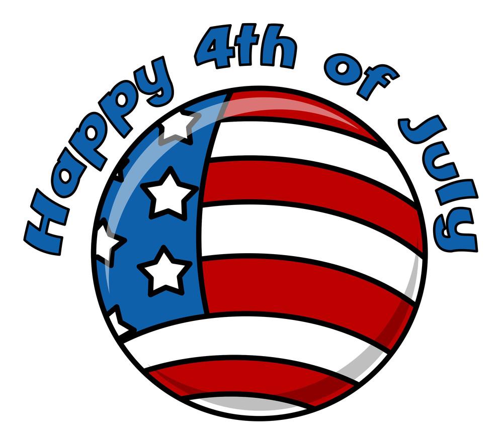 Happy 4th Of July Circular Icon