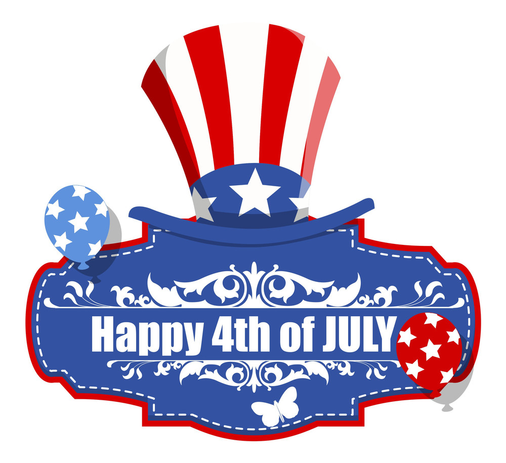 Happy 4th Of July Decorative Banner