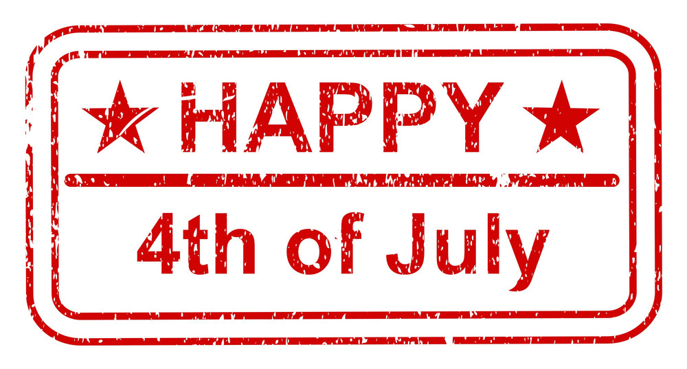 Happy 4th Of July Grunge Stamp