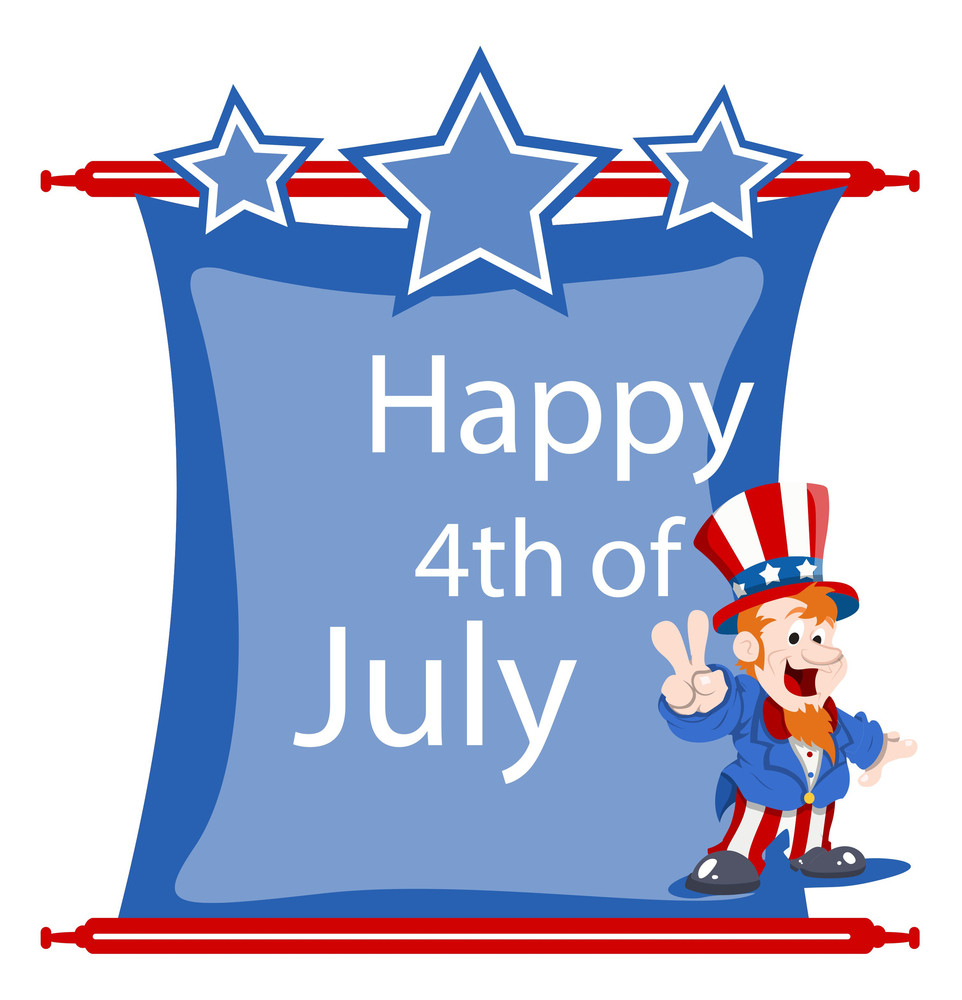 Happy 4th Of July Holiday Vector Scroll