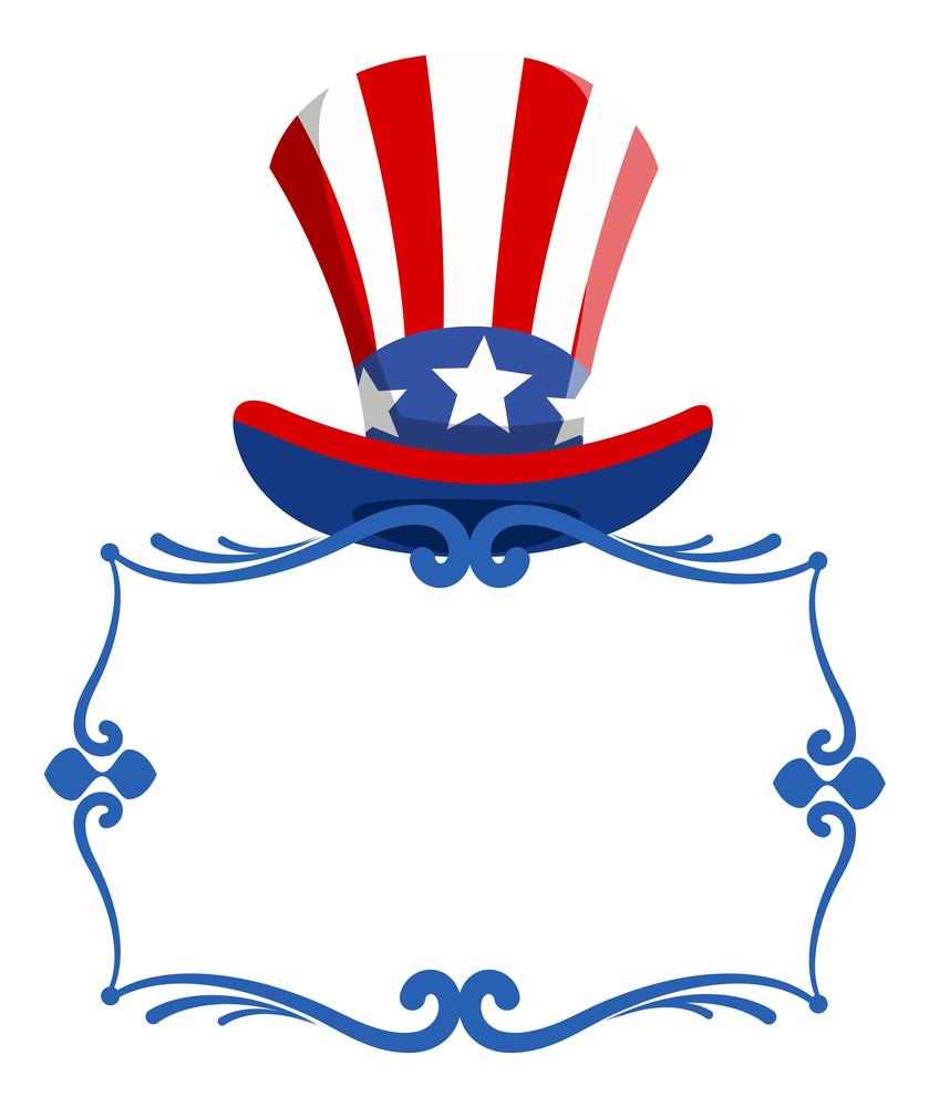 Happy 4th Of July Ribbon Banner Shield Vector Greeting