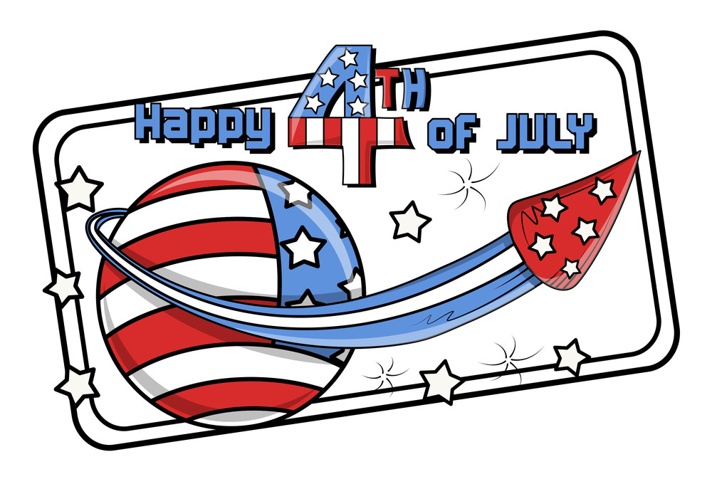 Happy 4th Of July Text