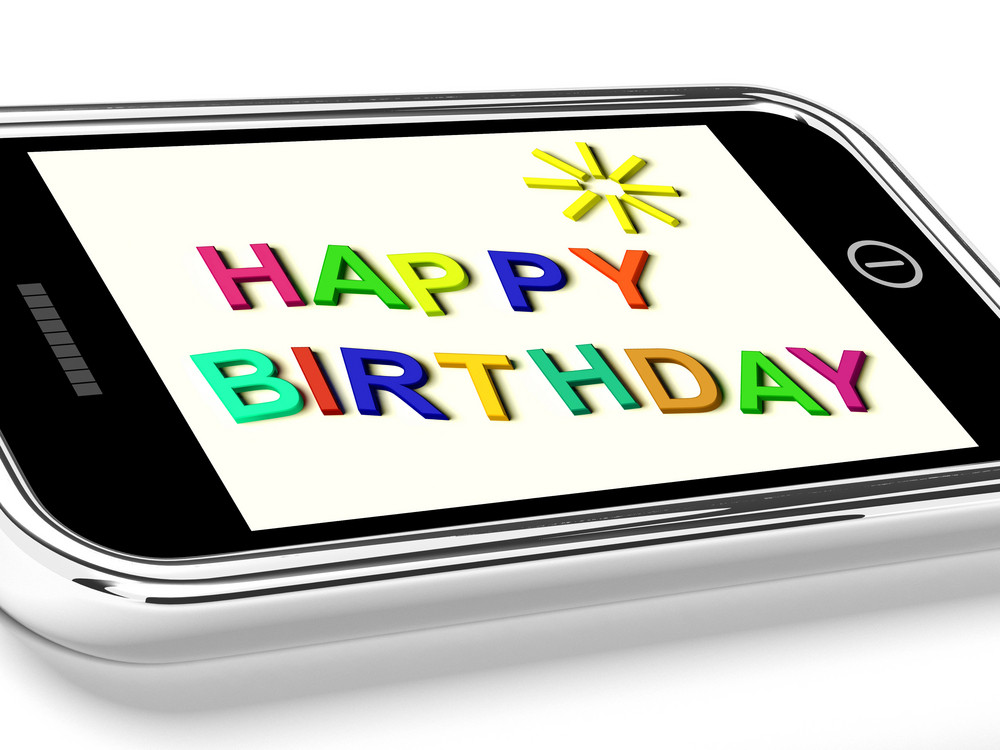 Happy Birthday Message On Mobile Phone Shows Internet Message