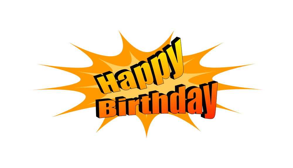 happy birthday retro text banner royalty free stock image