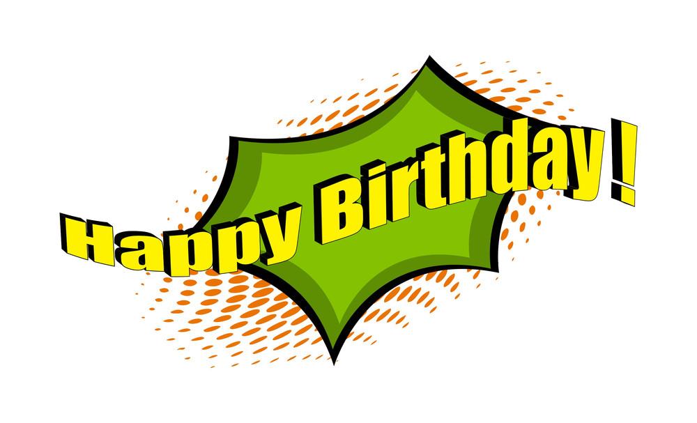 Happy Birthday Retro Text Banner
