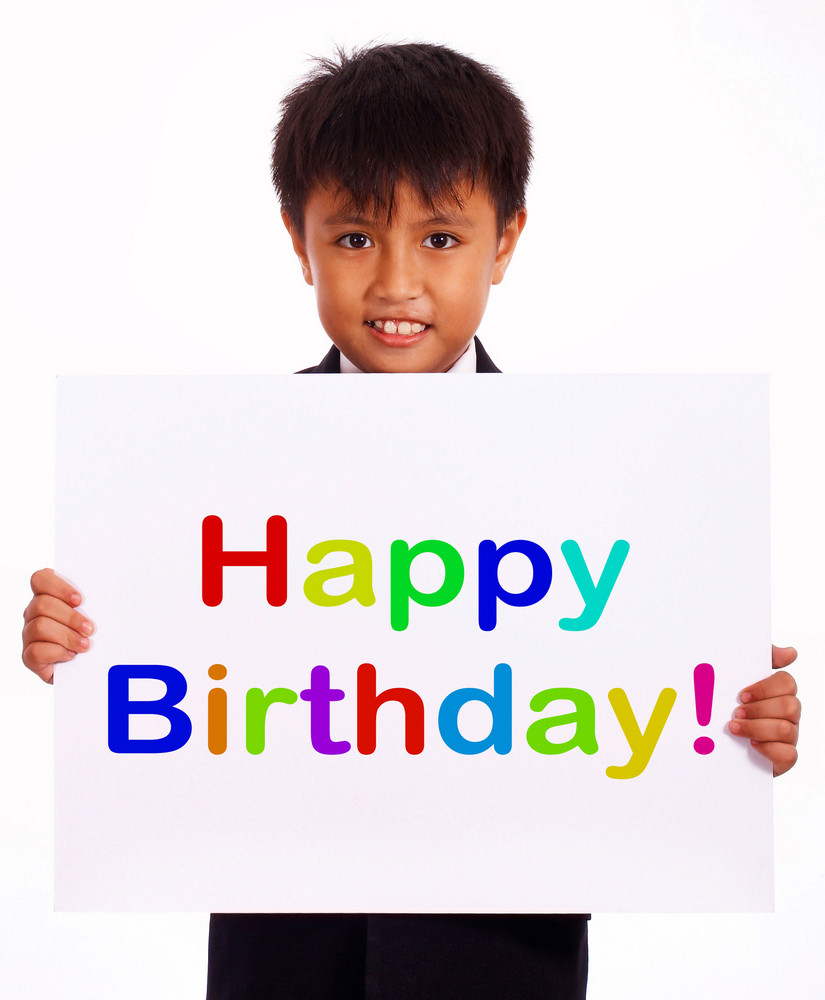 Happy Birthday Sign For Greeting And Celebration