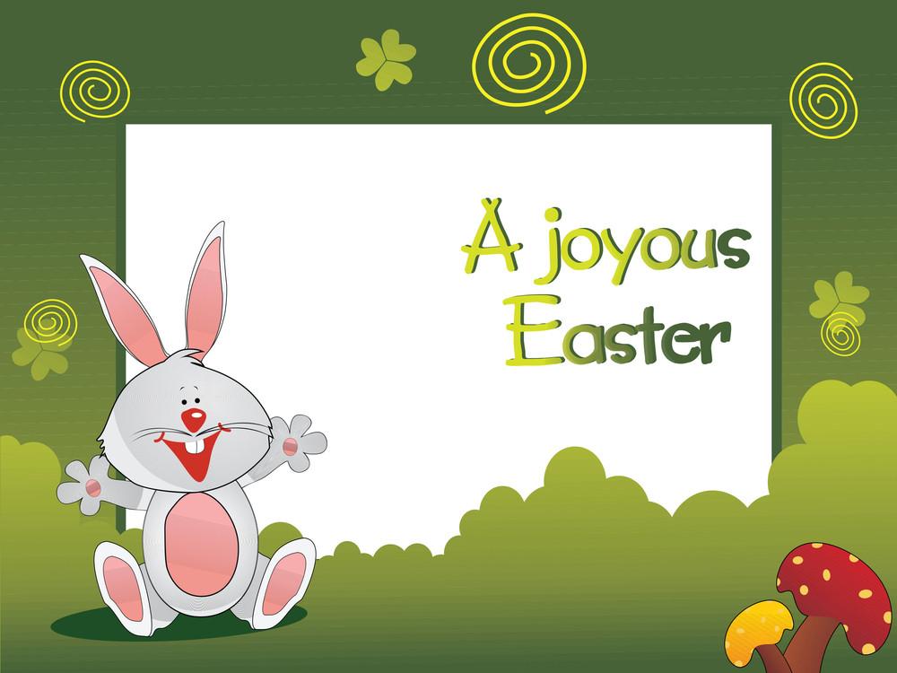 Happy Bunny In The Garden Wallpaper