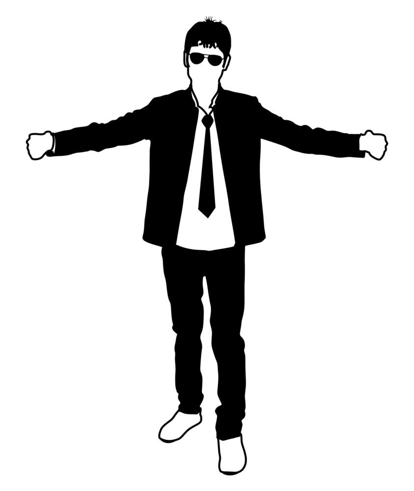 happy businessman silhouette royalty free stock image storyblocks