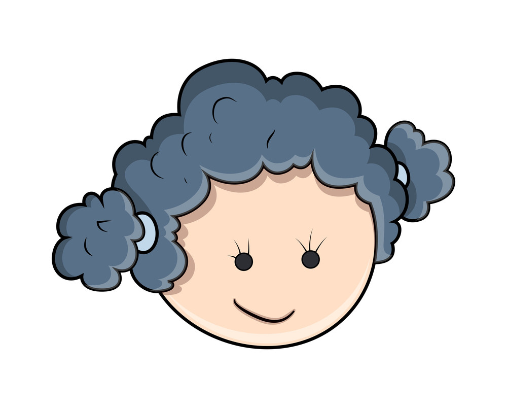 Happy Cartoon Kid Girl Face Expression Royalty-Free Stock Image ...