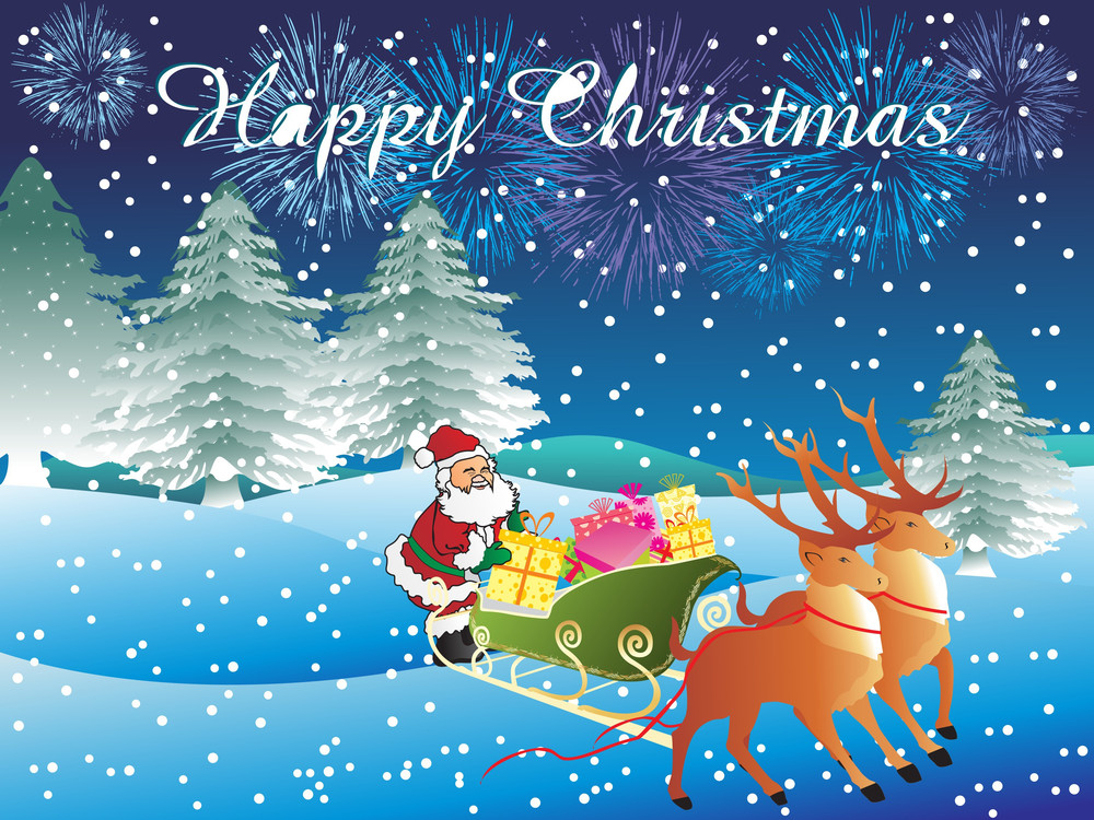 Happy Christmas Day Wallpaper Royalty-Free Stock Image