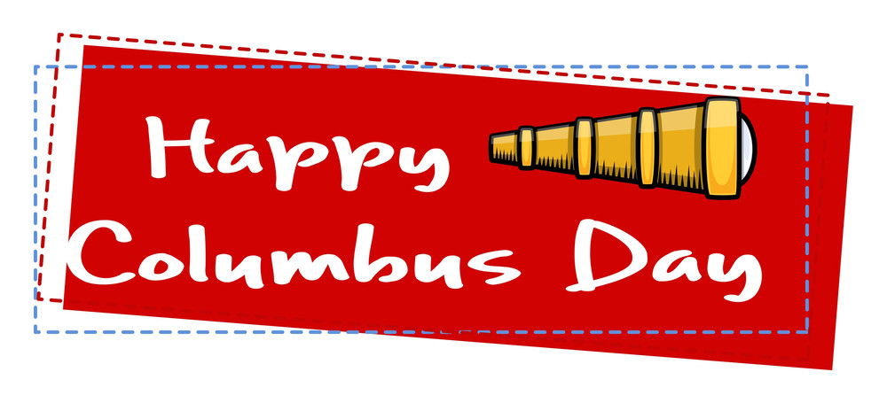 Happy Columbus Day Banner