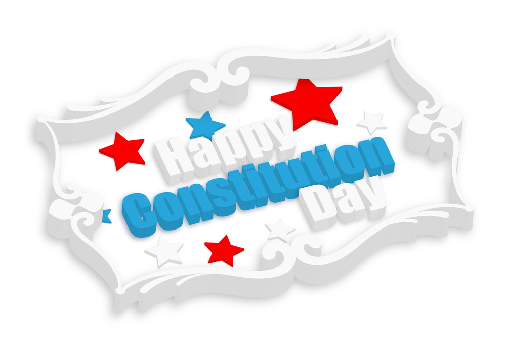 Happy Constitution Day 3d Greeting