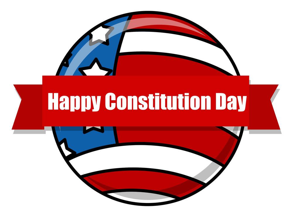 Happy  Constitution Day Globe Vector Illustration