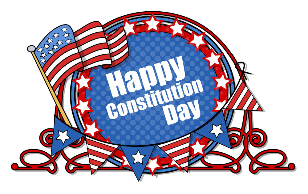 Happy Constitution Day Vector Illustration
