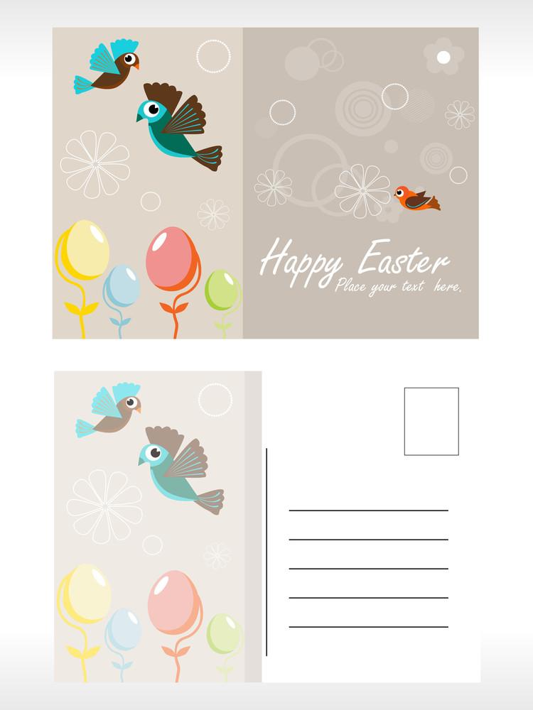 Happy Easter Background Illustration