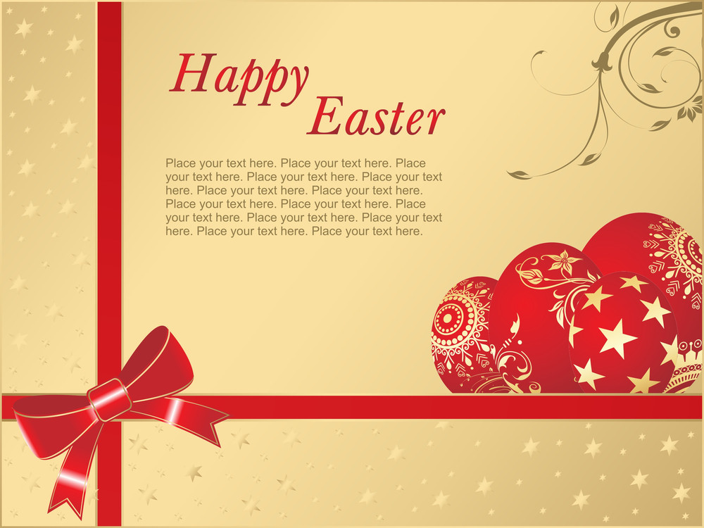 Happy Easter Background With Place For Text
