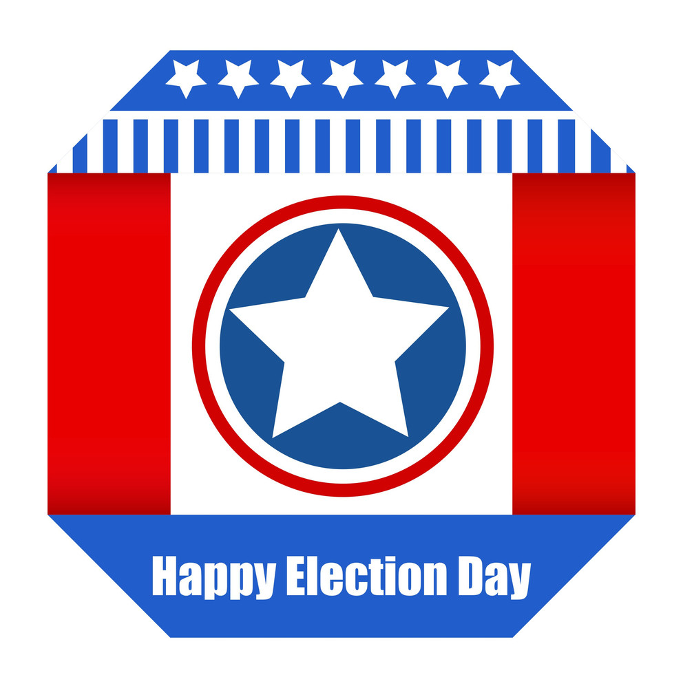 Happy Election Day Vector Banner