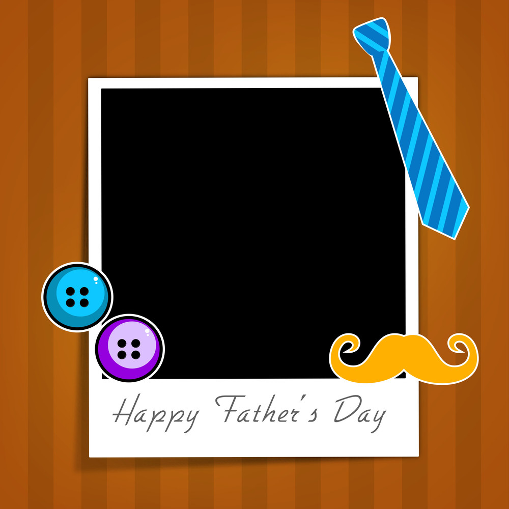 Happy Fathers Day Background With Blank Note Of Your Message