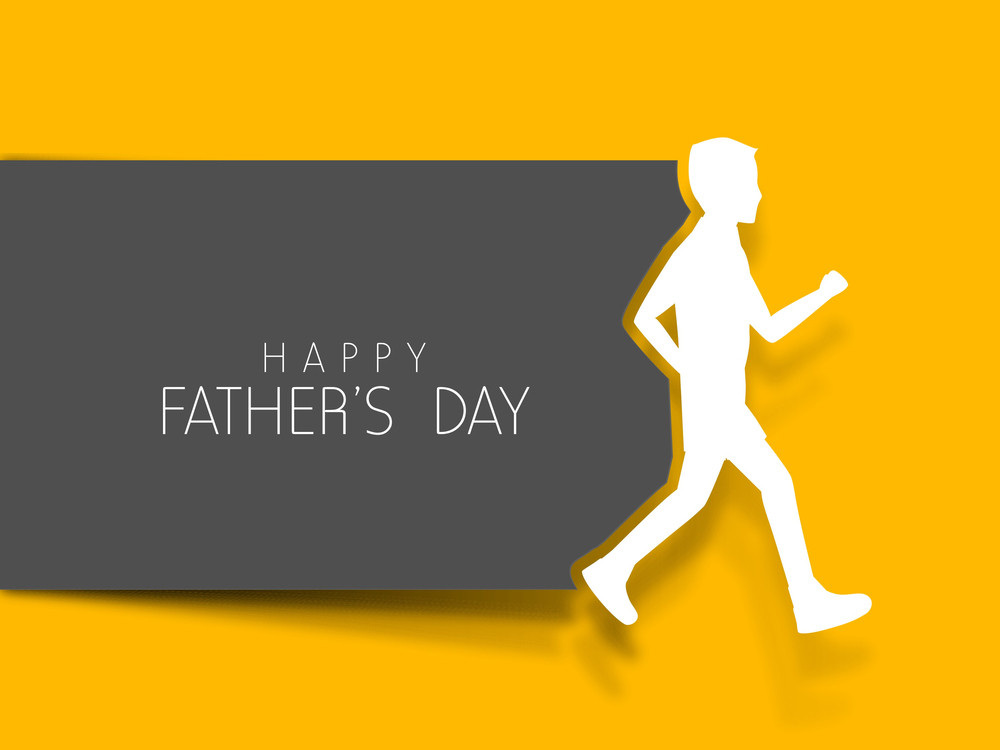 Happy Fathers Day Concept With Text And Son