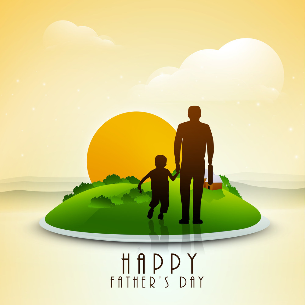 Happy Fathers Day Greeting Card Or Background Royalty Free Stock