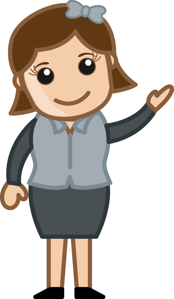 Happy Female Professional - Business Cartoon Character Vector