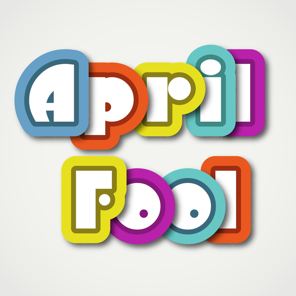 Happy Fool's Day Funky Background With Stylish Text.