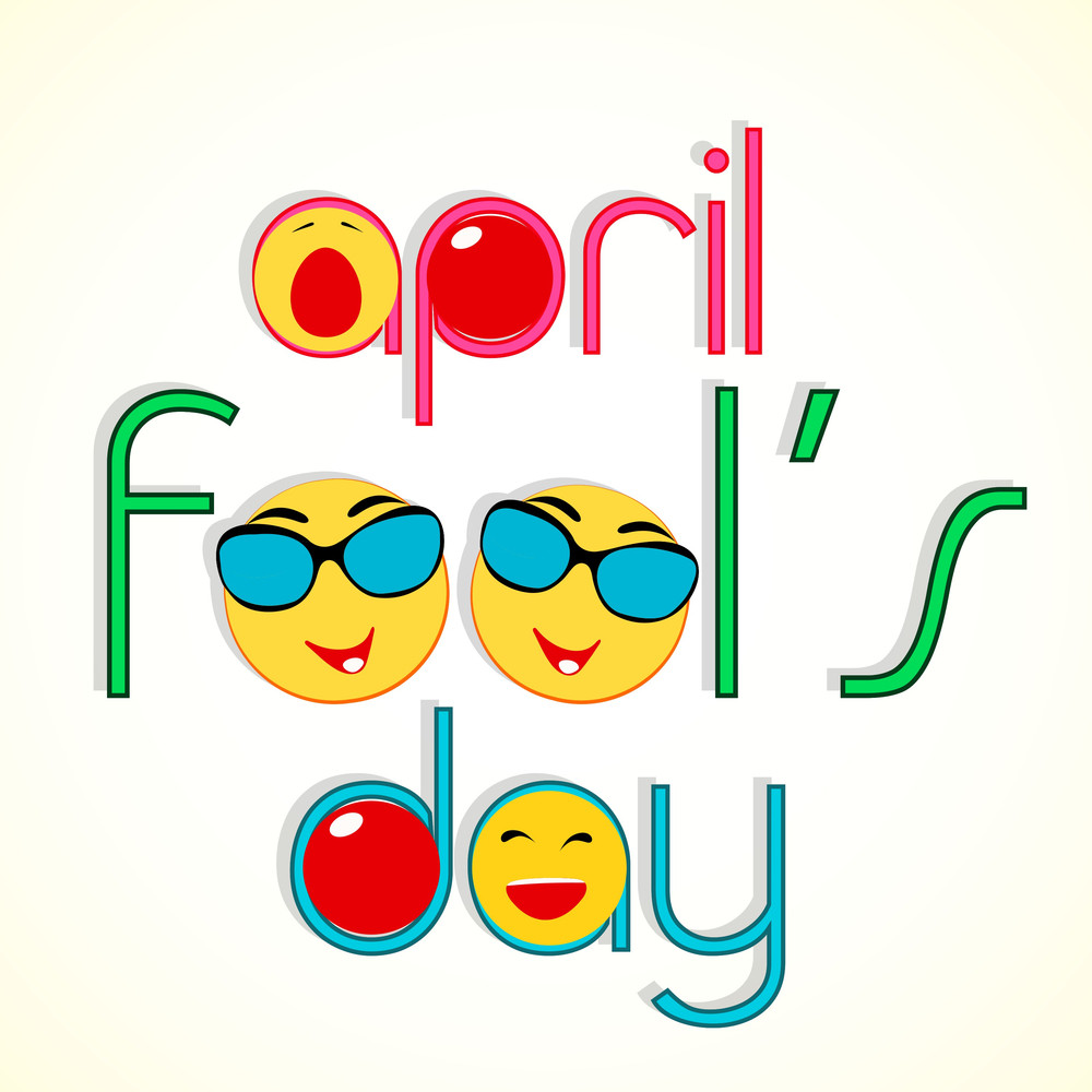 Happy Fool's Day Funky Concept With Stylish Text And Funny Elements.