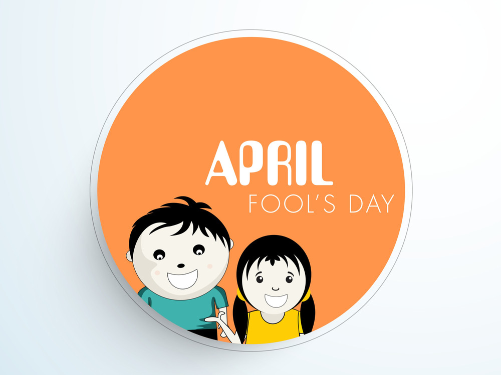 Happy Fool's Day Funky Sticker