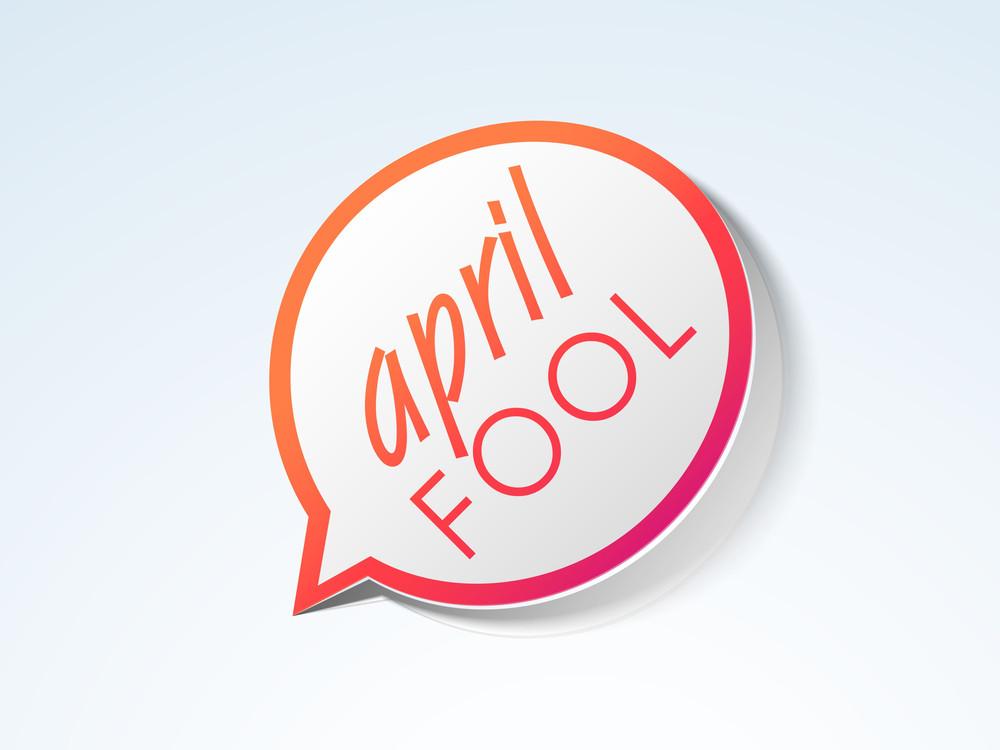 Happy Fool's Day Sticker
