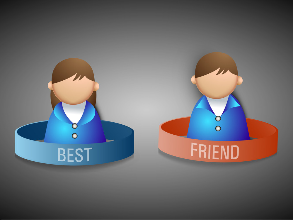Happy Friendship Day Background With Best Friends Circle On Grey Background.