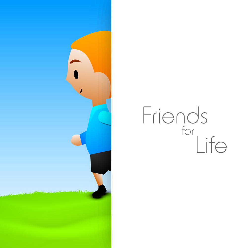 Happy Friendship Day Background With Text Friends For Life