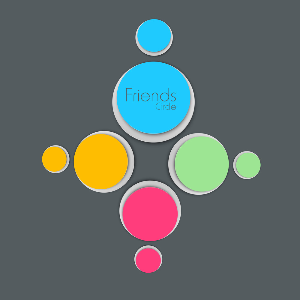 Happy Friendship Day Colorful Sticker