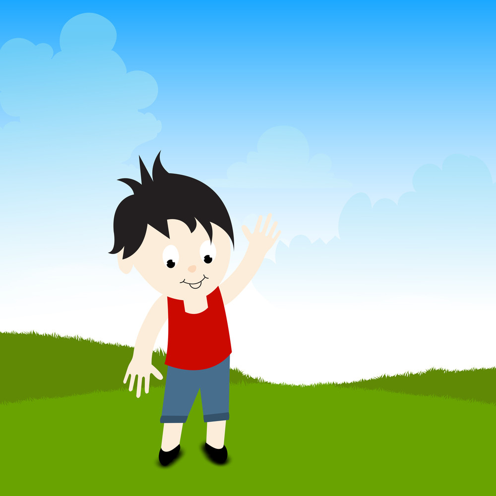 Happy Friendship Day Concept With Cute Boy On Nature Background.
