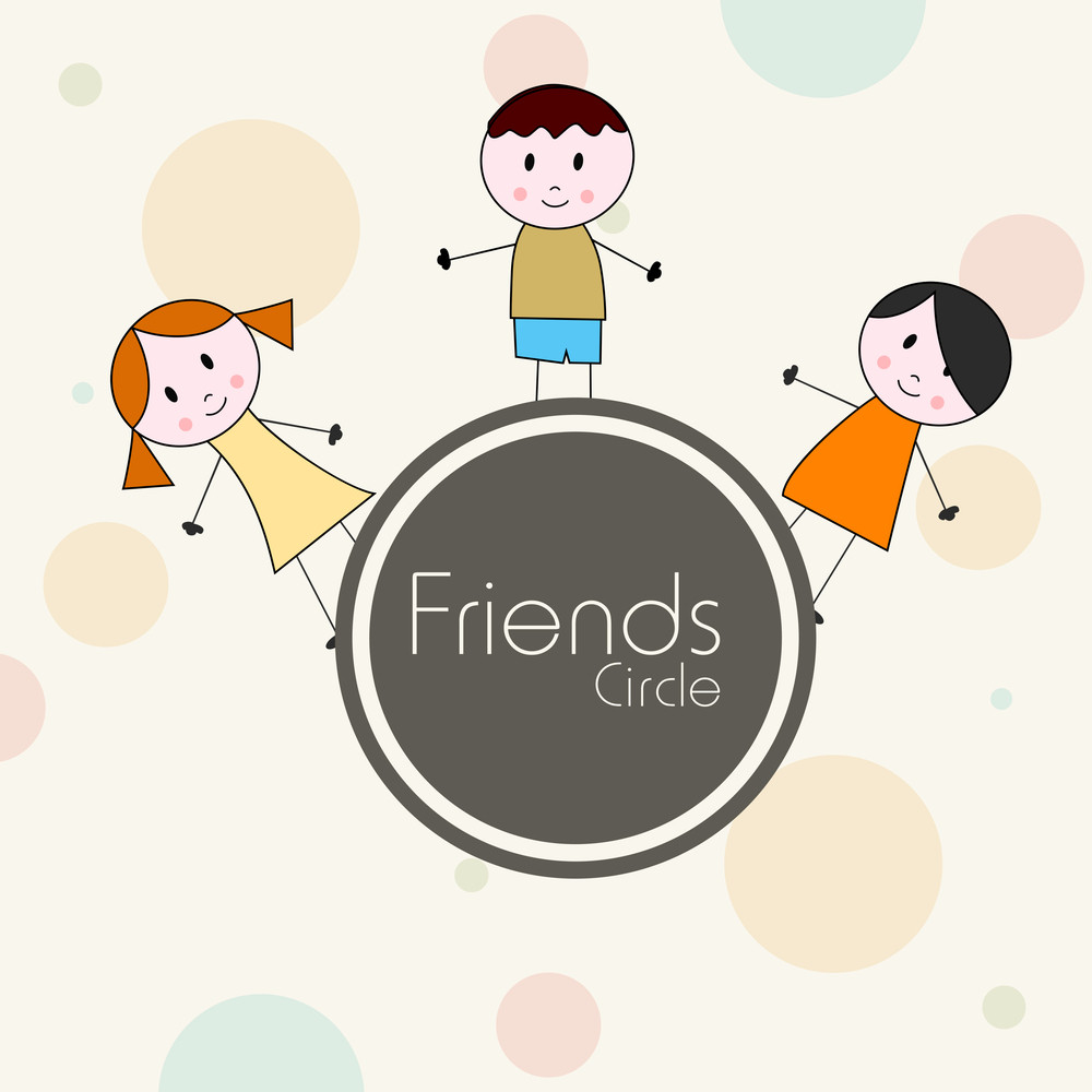 Happy Friendship Day Concept With Cute Boys On Abstract Background.