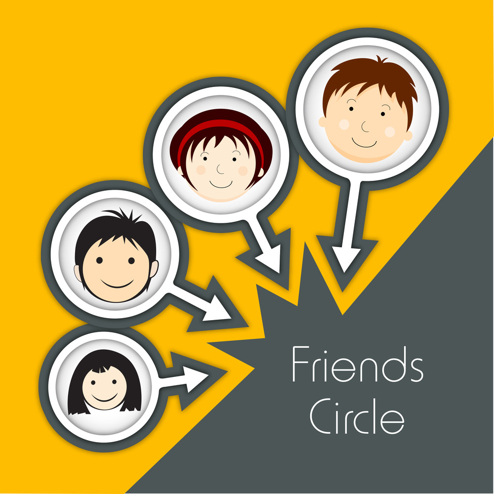 Happy Friendship Day Concept With Friend Circle Of Kids